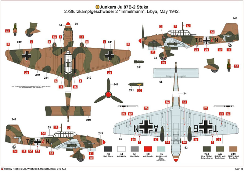Airfix 1:48 Junkers Ju87R-2/B-2 Stuka markings