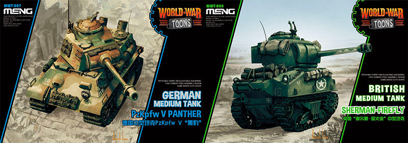 Meng World War Toons Tanks Panther and Firefly box art