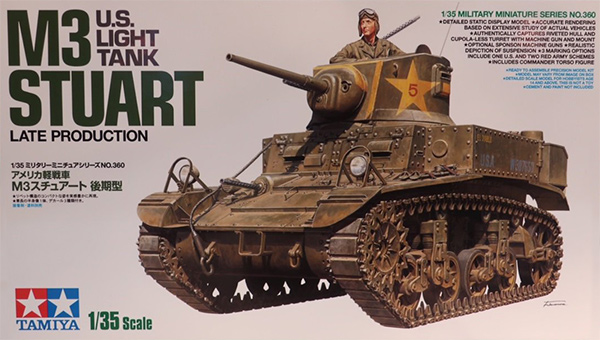 Tamiya's M3 Stuart Late Production box art