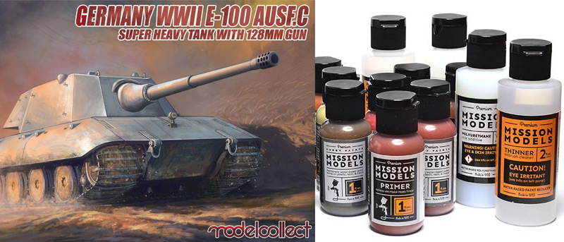 Modelcollect kits and Mission Model Paints